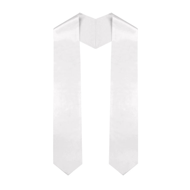 White Primary / Secondary Stole - Graduation UK