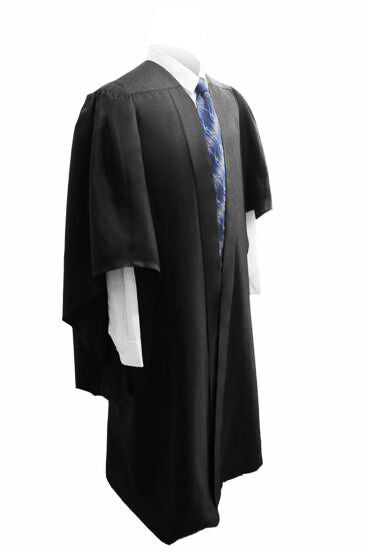 Deluxe Black Bachelors Graduation Gown - UK University Gown - Graduation UK