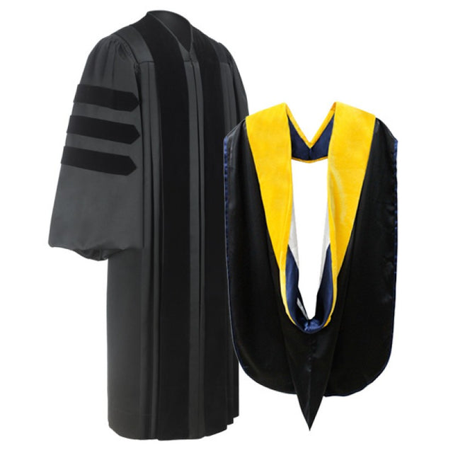 American Deluxe Doctoral Graduation Gown & Hood Package - Graduation UK