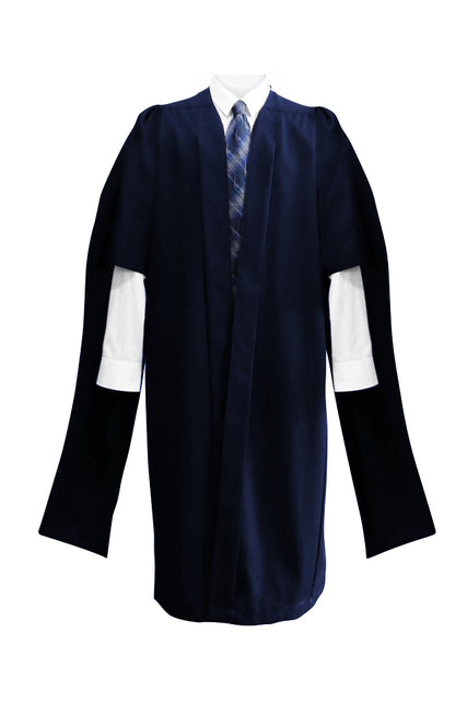 Deluxe Navy Blue Masters Graduation Gown - Graduation UK