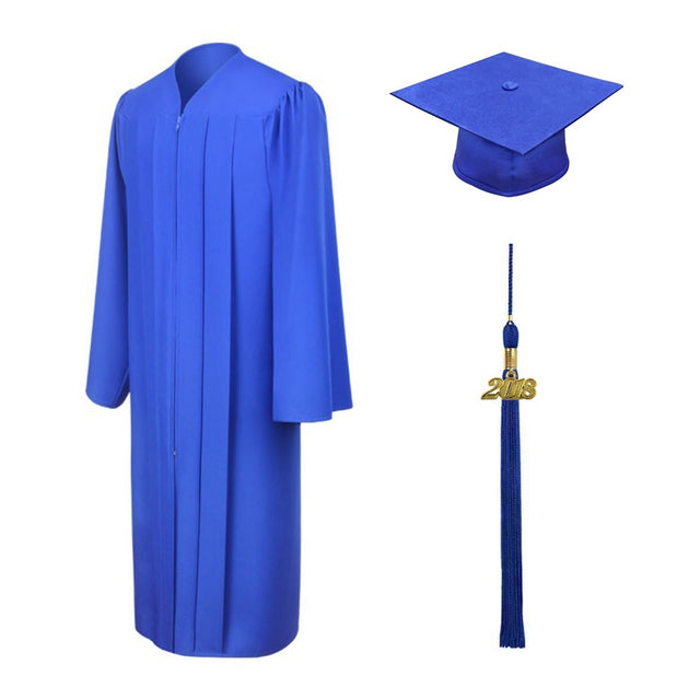 Royal Blue High School Cap, Gown & Tassel - Graduation UK