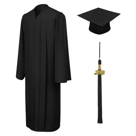 Black High School Cap, Gown & Tassel - Graduation UK