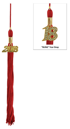Red Primary / Secondary Cap & Tassel - Graduation UK