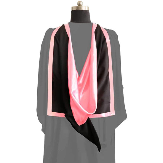 Masters Full Shape Academic Hood - Pink & Black