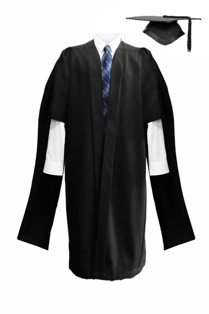 Deluxe Masters Graduation Mortarboard & Gown - Graduation UK
