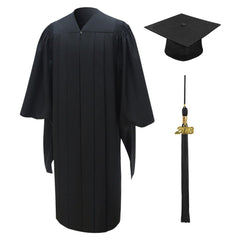 American Deluxe Black Masters Graduation Cap & Gown - Graduation UK