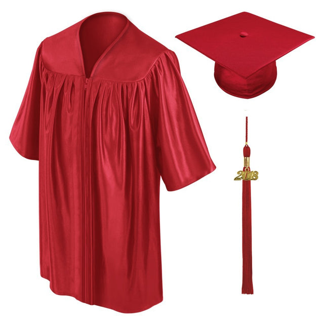 Red Childs Nursery Preschool Cap and Gown - Graduation UK