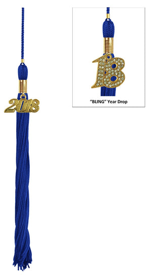 Royal Blue High School Tassel - Graduation UK