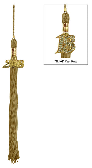 Antique Gold Graduation Tassel - Graduation UK