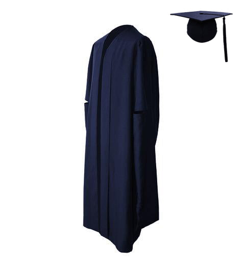 Classic Navy Masters Graduation Cap & Gown - Graduation UK