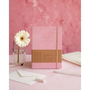 Mason Suede Notebook Candy Pink
