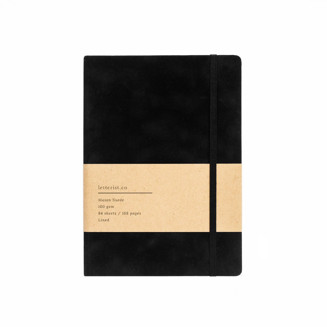 Mason Suede Notebook Black