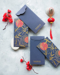 Navy Chinoiserie  Money Envelope - Set of 8