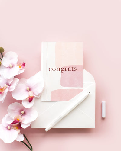 Congrats Pastel - Greeting Card