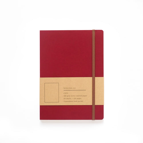 Cava Notebook - Scarlet Red