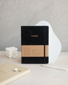 Mason Suede Notebook Charcoal Black