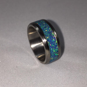 How to Make a Titanium Engagement Ring with Crushed Opal Inlay