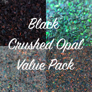 All Black Crushed Opal Value Pack - 4 Grams Total