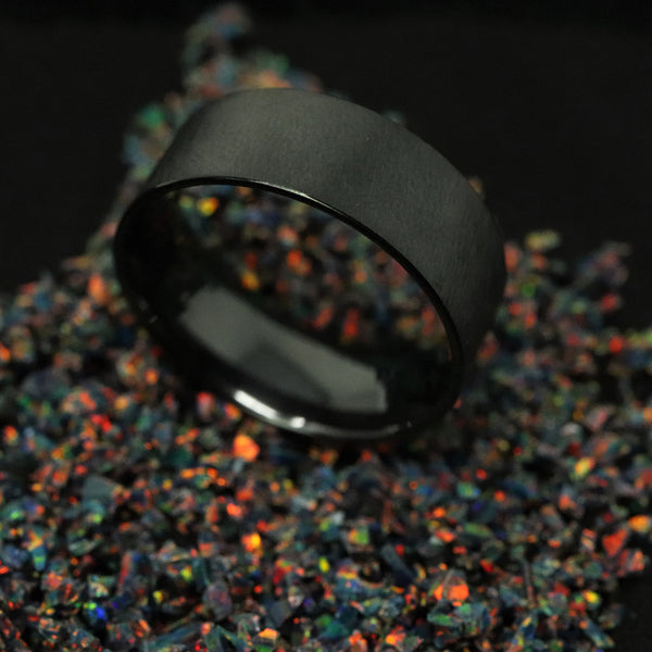 Black Ceramic Ring Blank/Liner 8mm Wide