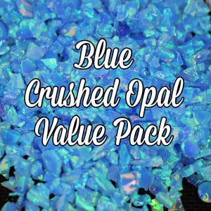 All Blue Crushed Opal Value Pack - 9 Grams Total