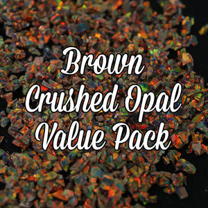 All Brown Crushed Opal Value Pack - 3 Grams Total