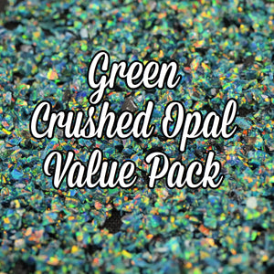 All Green Crushed Opal Value Pack - 10 Grams Total