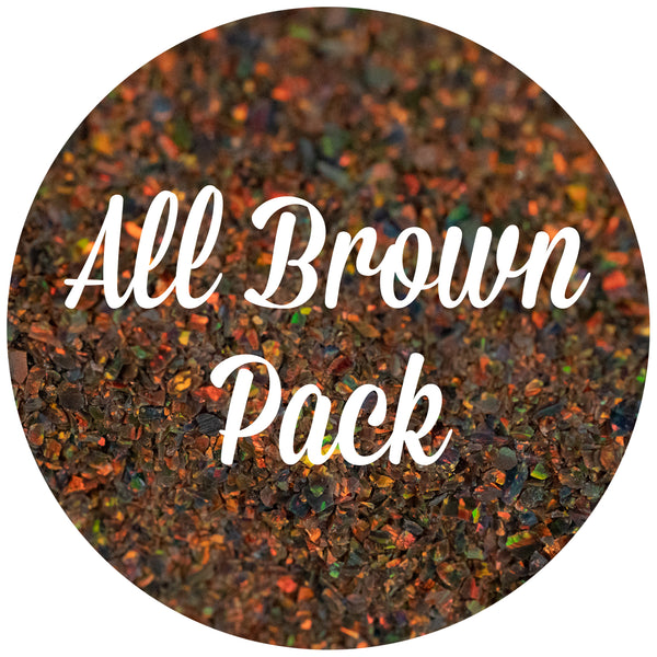 All Brown Crushed Opal Value Pack - Dark Matter, Magma, Tigers Eye