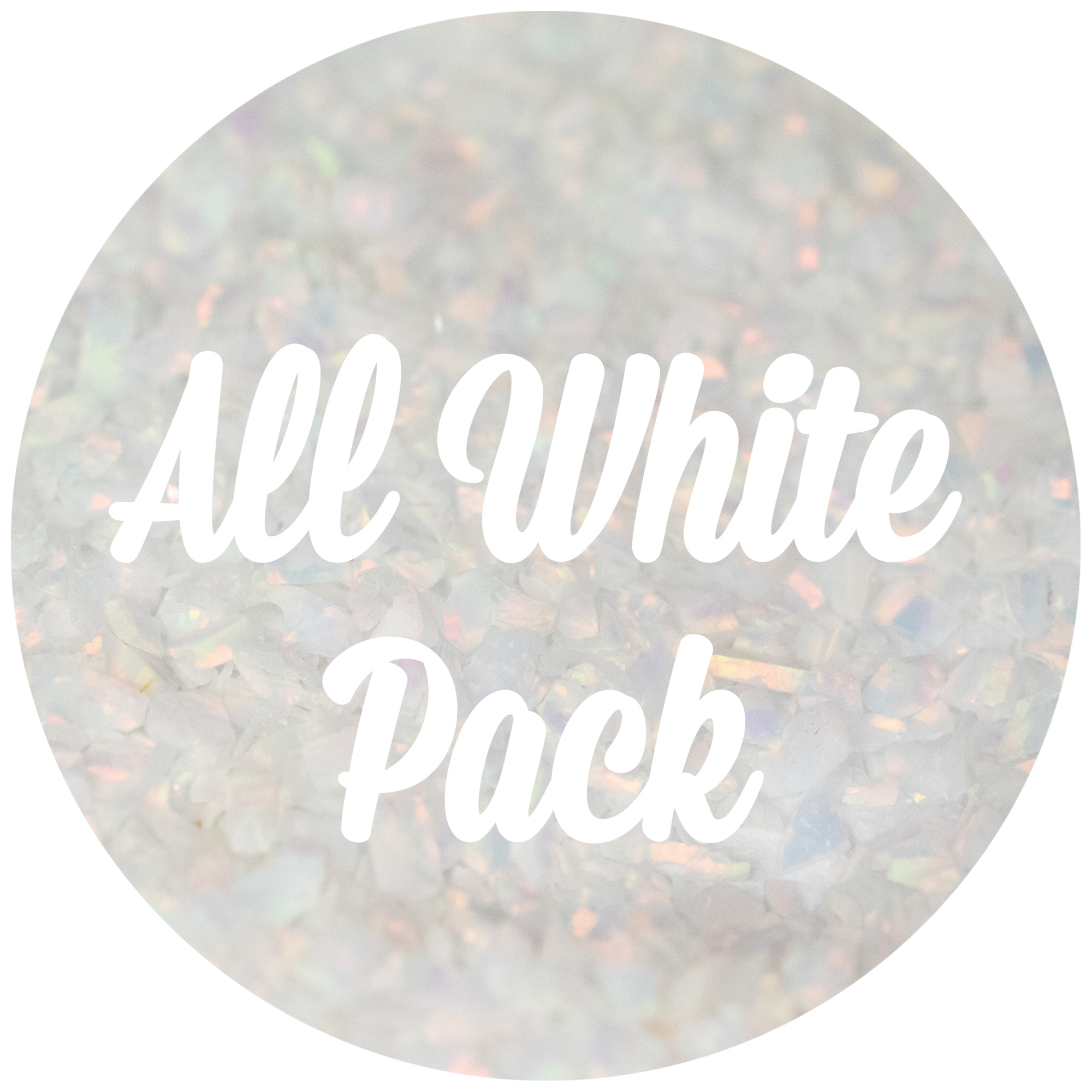 All White Crushed Opal Value Pack - Glacier, Pearl White
