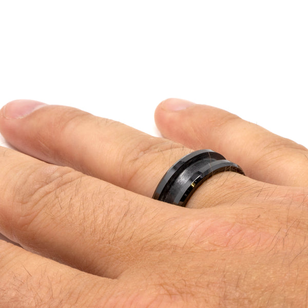 Black-Ceramic-Ring-Blank-Mens-Wedding-Ring