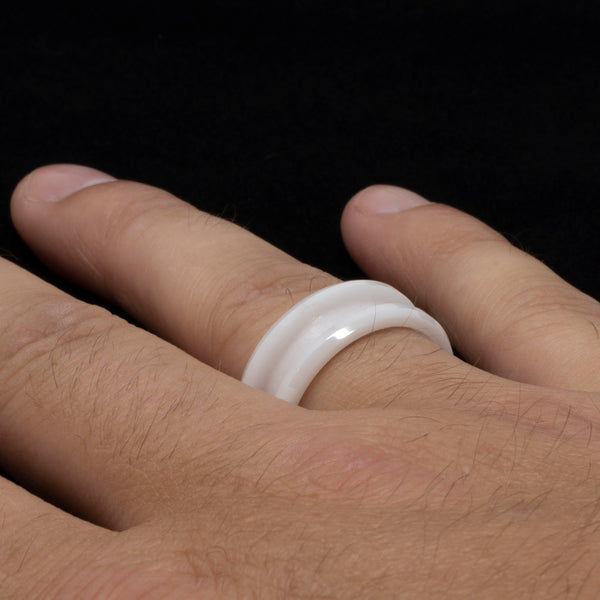 White-Ceramic-Ring-Blank-Mens-Wedding-Ring