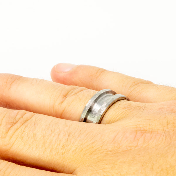 Hammered-Tungsten-Ring-Blank-Mens-Wedding-Ring