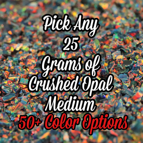 25-Pack Medium Size Crushed Opal