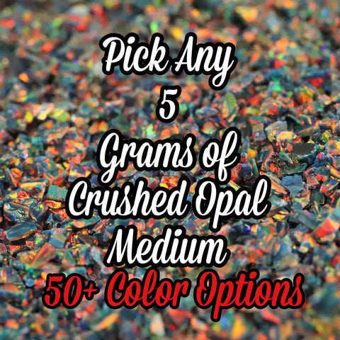 5-Pack Medium Size Crushed Opal