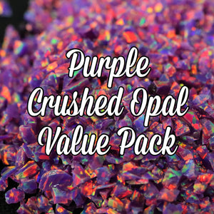 All Purple Crushed Opal Value Pack - 5 Grams Total