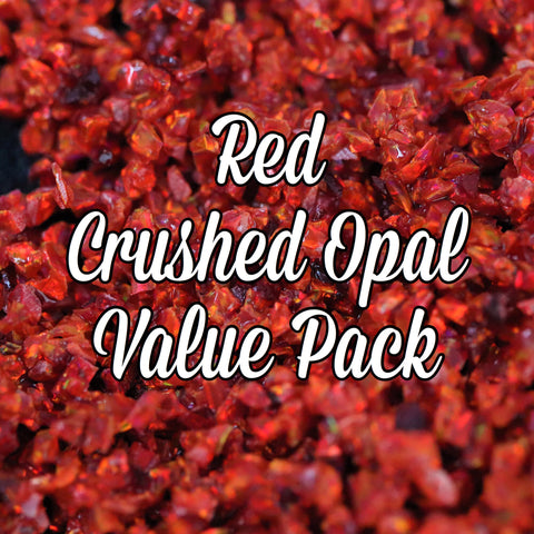All Red Crushed Opal Value Pack - 4 Grams Total