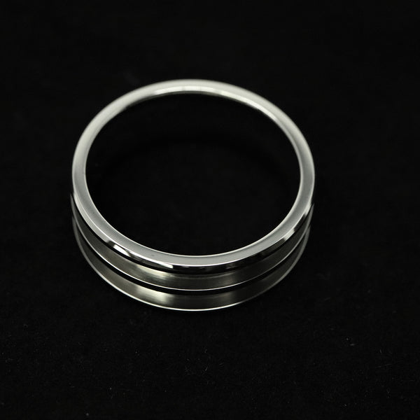 Stainless Steel Double Channel Ring Blank 8mm Wide 2.5mm Channels