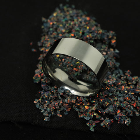 Titanium Ring Blank/Liner 8mm Wide