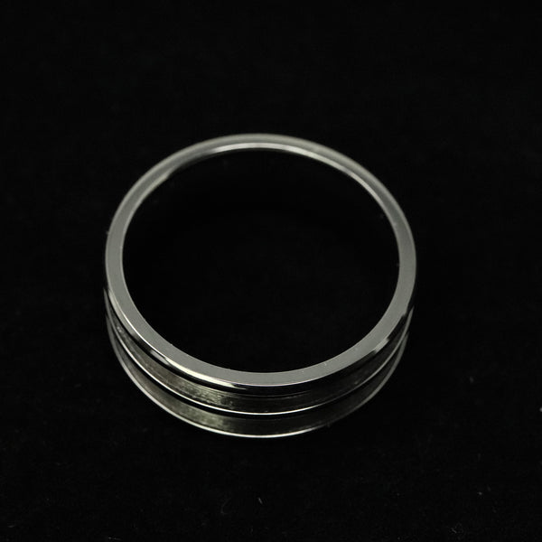 Titanium Double Channel Ring Blank 8mm Wide 2.5mm Channels