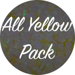 All Yellow Crushed Opal Value Pack - Afterglow, Amber, Cosmic Dust, Golden Pineapple