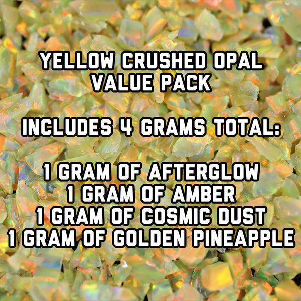 All Yellow Crushed Opal Value Pack - 4 Grams Total
