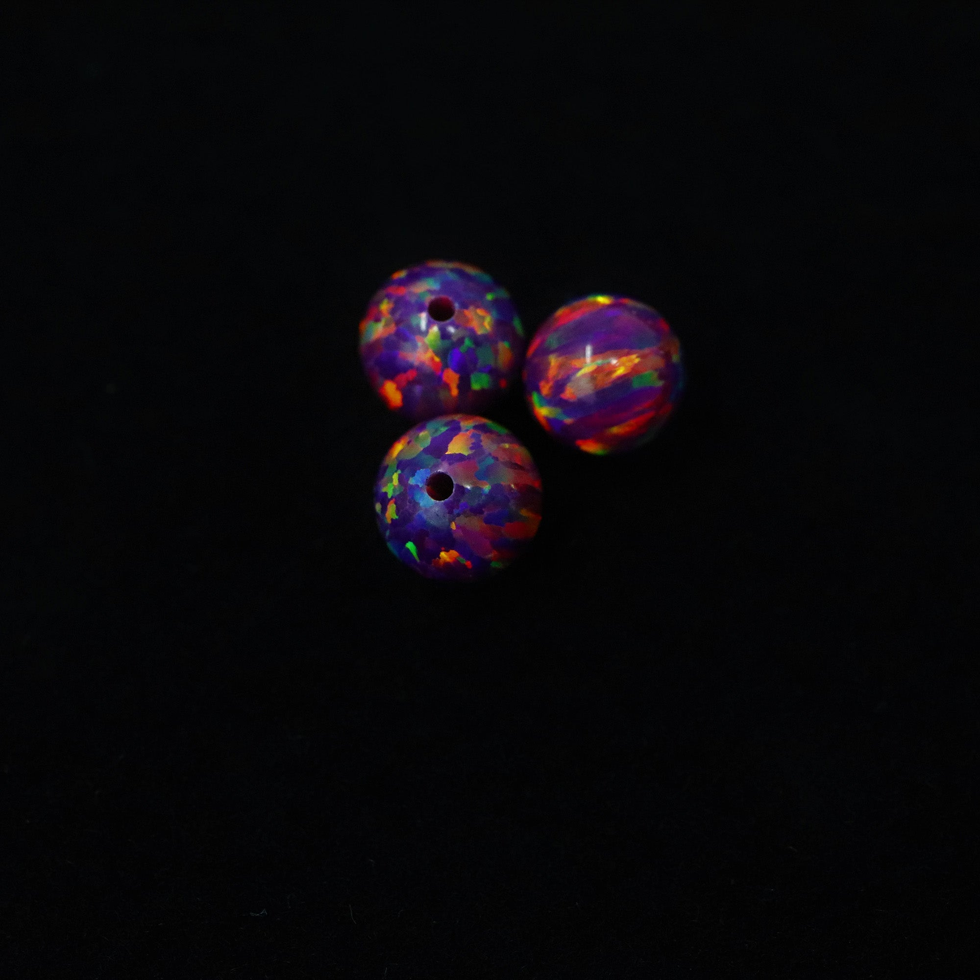Orchid Opal 6mm Craft Beads - 1mm Center Drilled
