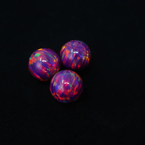 Orchid Opal 8mm Craft Beads - 1mm Center Drilled