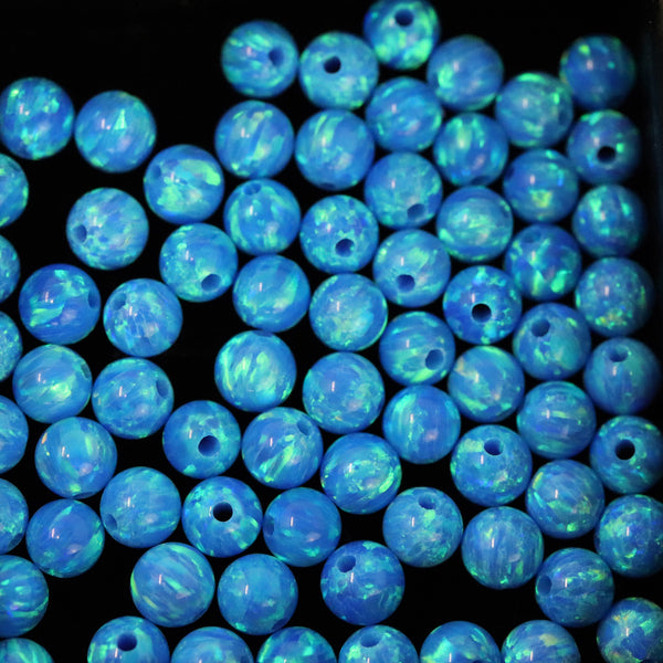 Pacific Sapphire Opal 2mm/4mm Craft Beads - 1mm Center Drilled