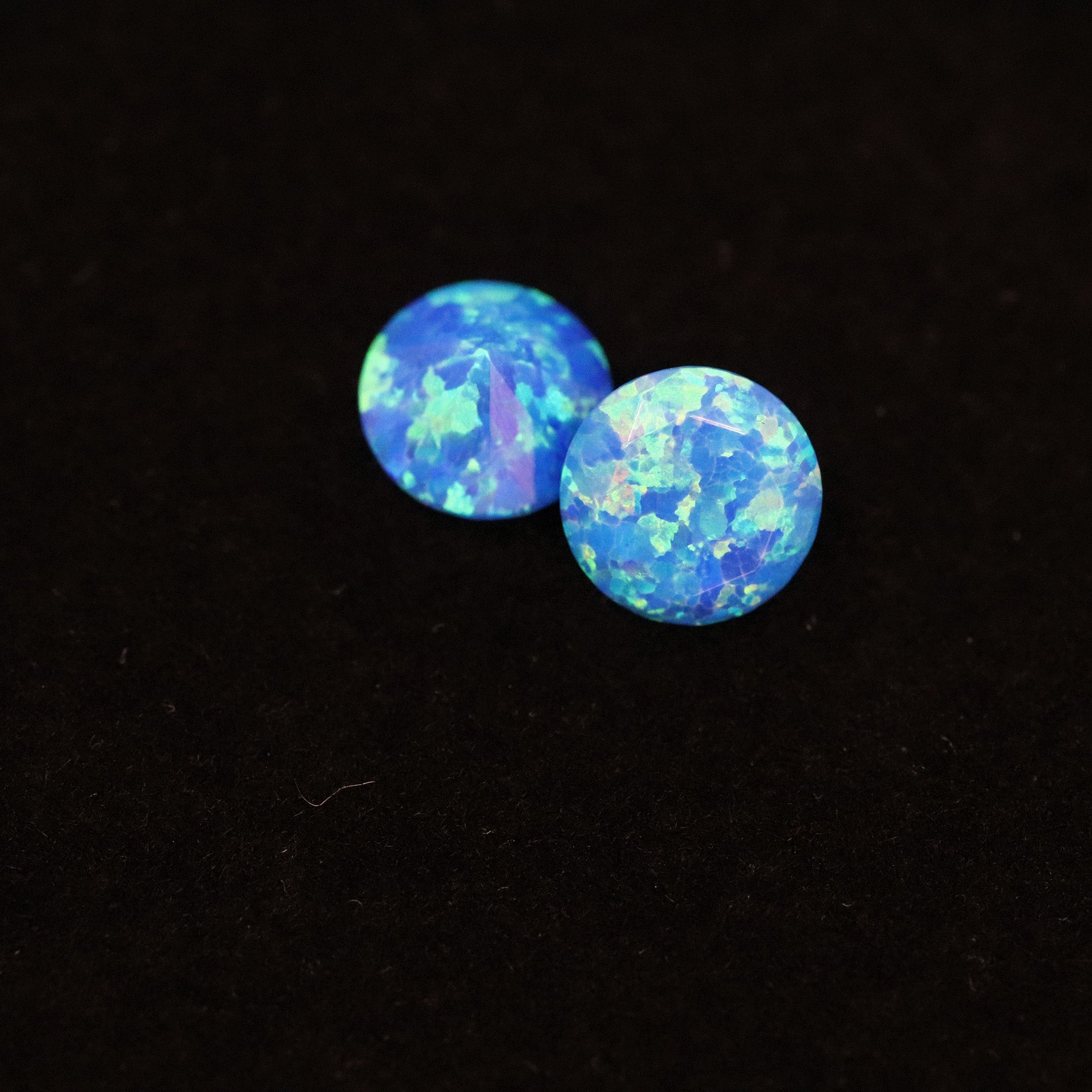 Pacific Sapphire Diamond Cut Faceted Opal Stones