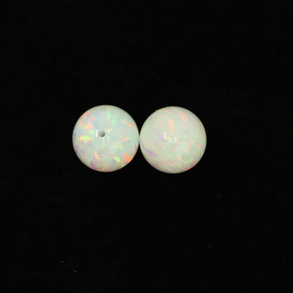 Pearl White Opal 10mm Craft Beads - 1mm Center Drilled