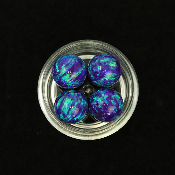 Sleepy Lavender Opal 10mm Craft Beads - 1mm Center Drilled