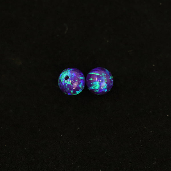 Sleepy Lavender Opal 6mm Craft Beads - 1mm Center Drilled
