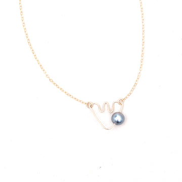 Bijou Treasure by Tevei Perle collier moorea avec une perle en goldfilled