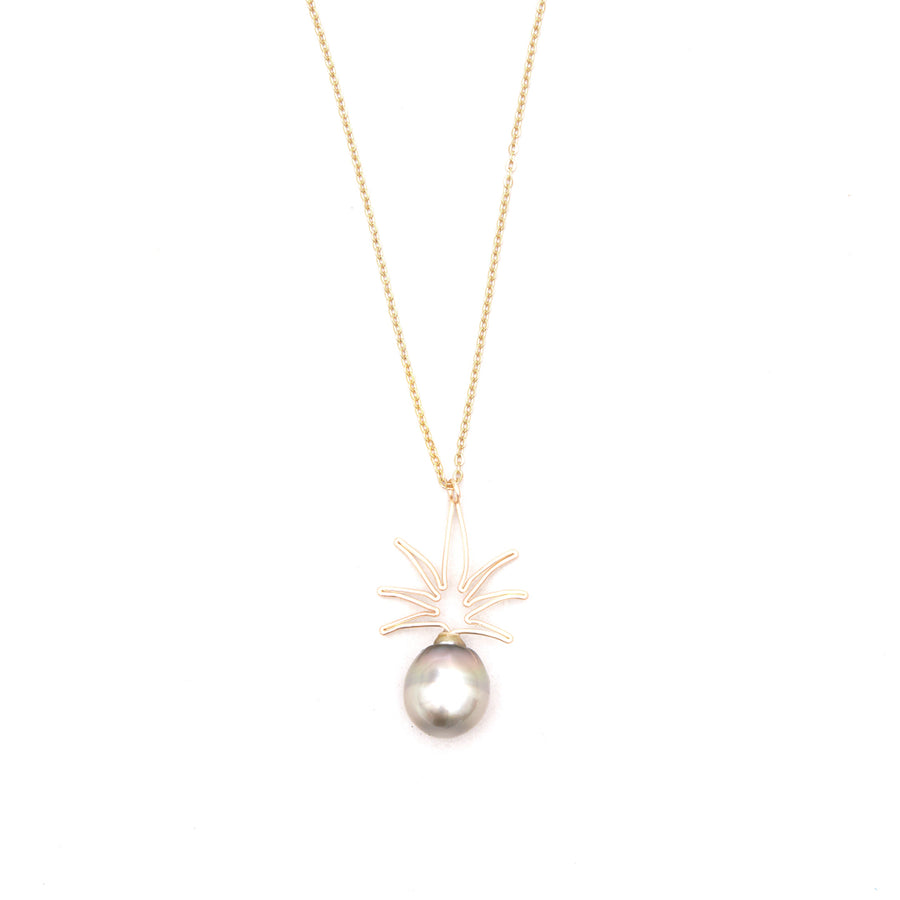 Bijou Treasure by Tevei Perle collier ananas avec une perle en goldfilled