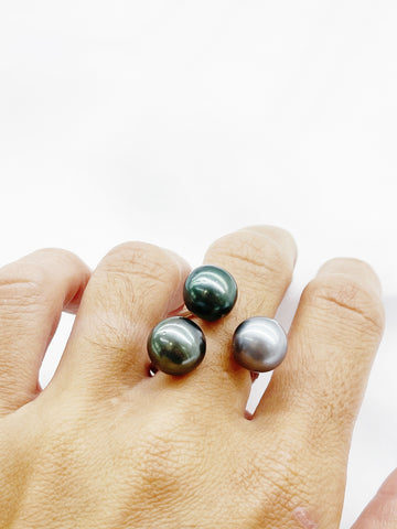BAGUE INVISIBLE 3 PERLES